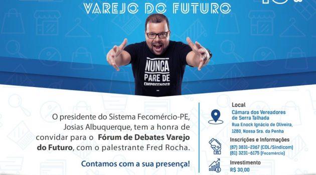Fred Rocha estará em Serra Talhada no dia 10 de Outubro.