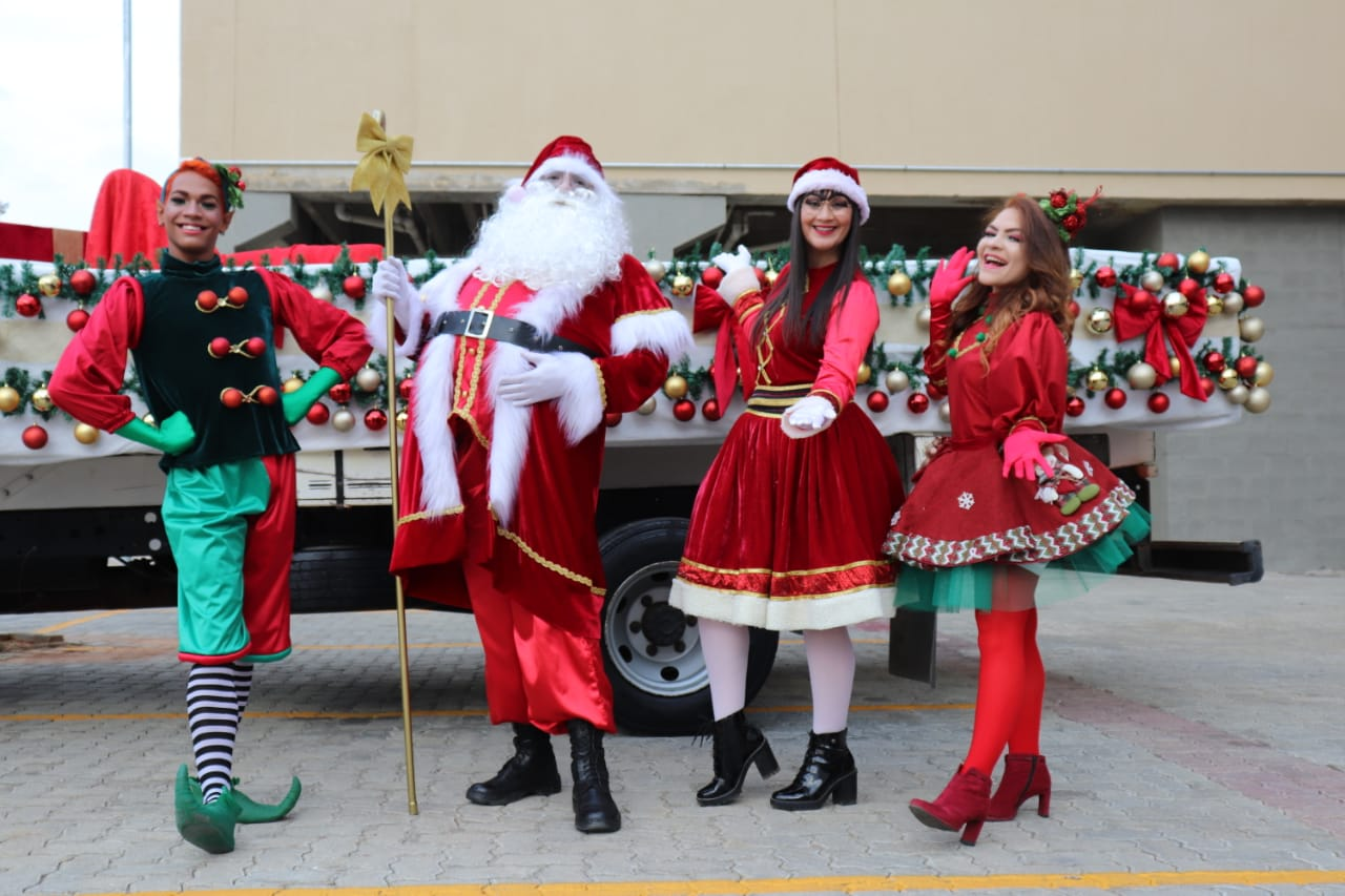 Papai Noel no Shopping Serra Talhada
