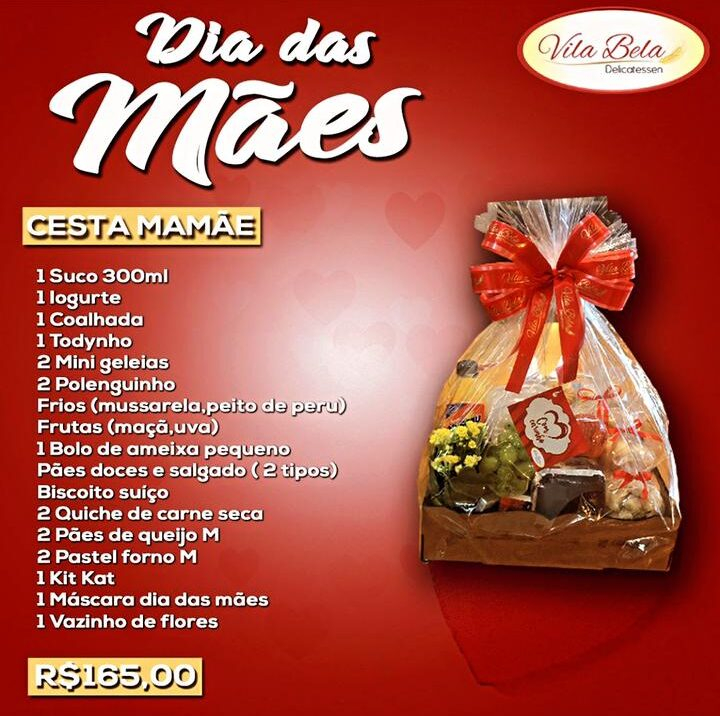 cesta de café da manhã-Vila Bela Delicatèssen