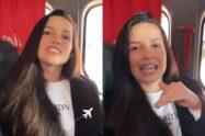 Juliette passa sufoco em avião