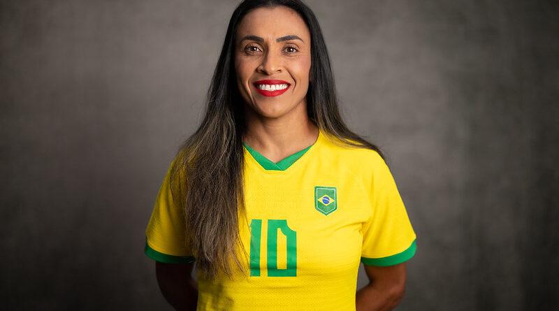 Jogadora Marta, da seleção de futebol feminina.
