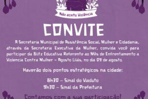Prefeitura promove Agosto Lilás