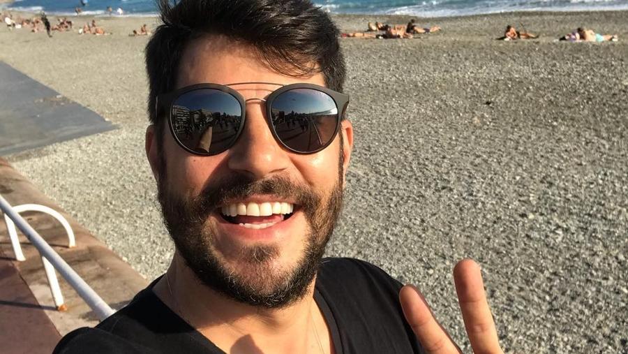 Apresentador Evaristo Costa.