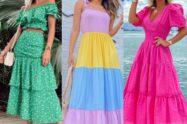 Looks de vestidos para a primavera 2022.