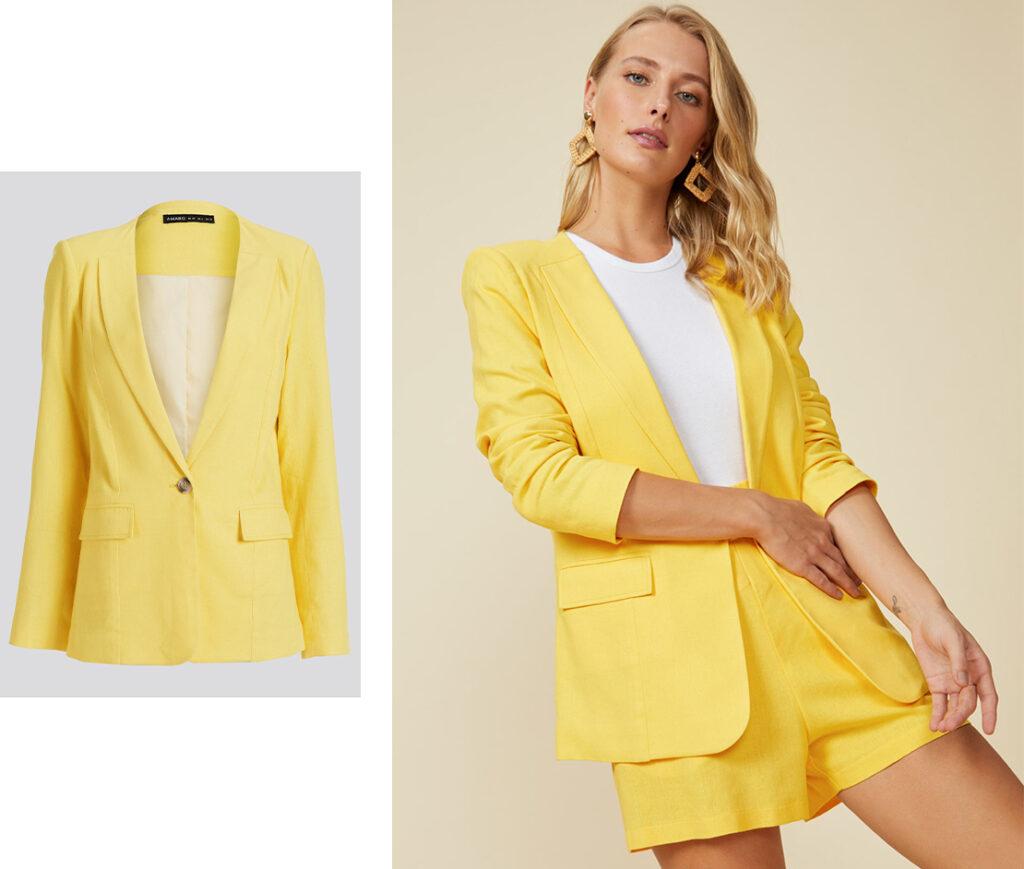 Blazer Amarelo.